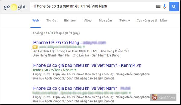 Khi đặt từ khóa trong dấu ngoặc kép, Google sẽ chỉ trả về các kết quả với từ  khóa theo đúng những gì bạn đặt trong ngoặc kép.
