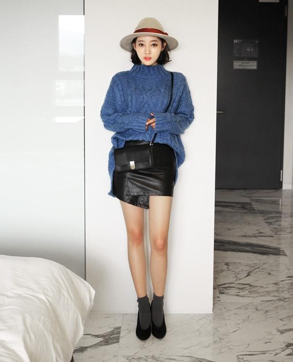 Chia sẻ cách phối đồ với chân váy vào mùa đông