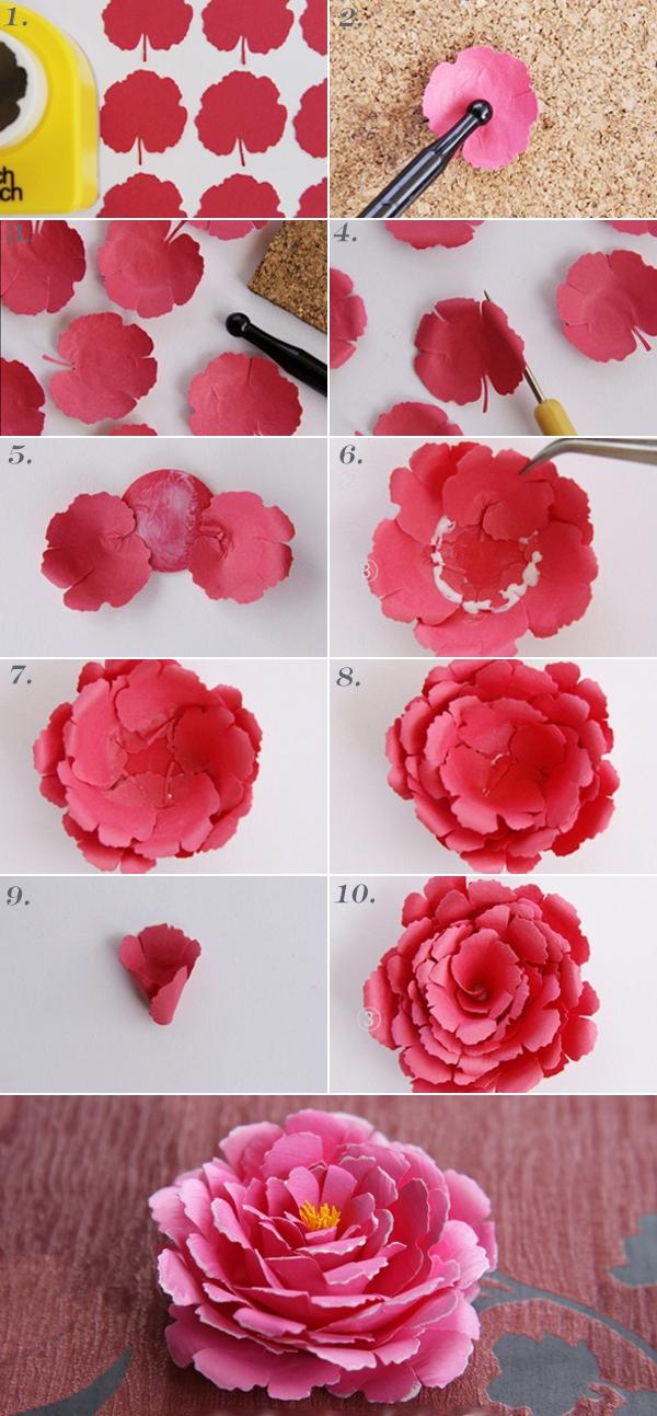 Cách làm 2 kiểu hoa giấy xinh xắn 1