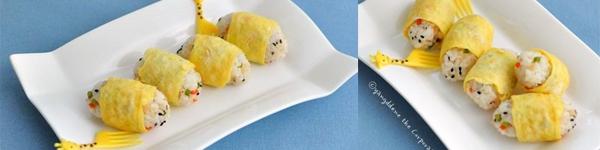 Trứng tráng hành phô mai cấp tốc ngon lành 5