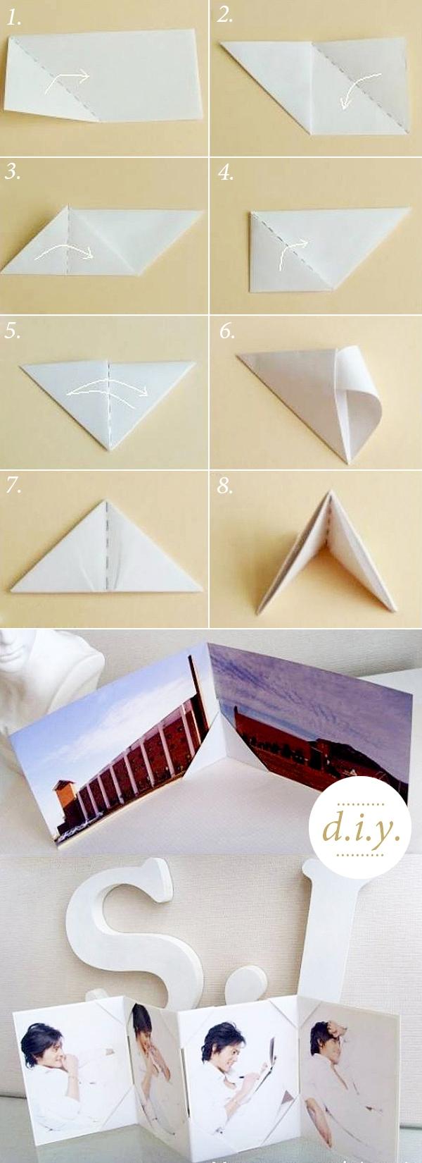 Học nhanh 2 cách gấp khung ảnh giấy 1