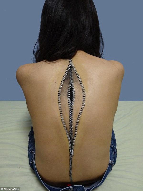 Cô gái Nhật lại gây sốt với body art quá đỉnh 7