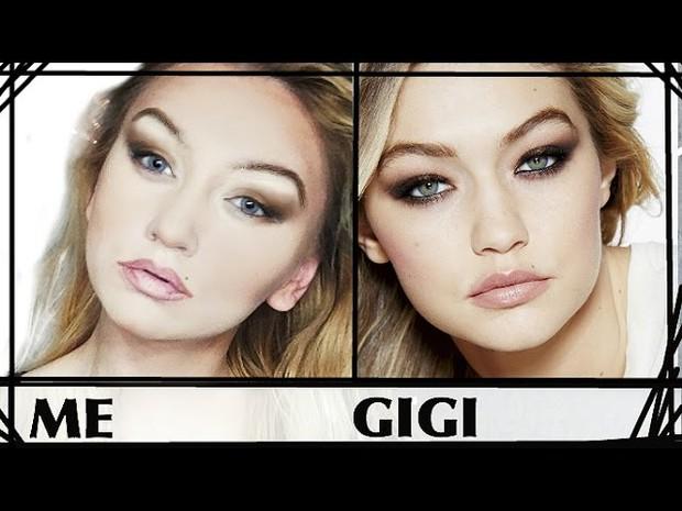 Cô gái biến hình giống Gigi Hadid đến 90% chỉ nhờ make up - Ảnh 1.