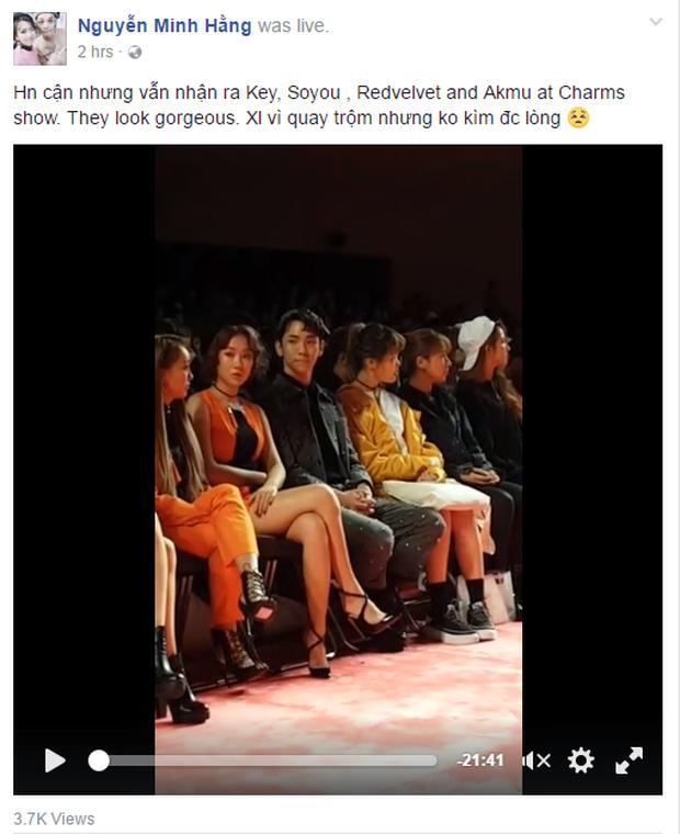 Min khoe đụng độ Red Velvet, SISTAR và Key (SHINee) khi dự show tại Tuần lễ thời trang Seoul - Ảnh 1.