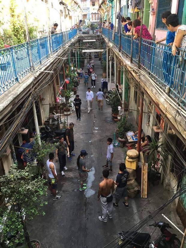 Sao TVB Quách Tấn An, Huỳnh Đức Bân, Chu Thần Lệ được fan bắt gặp quay phim tại Chợ Lớn - Ảnh 1.