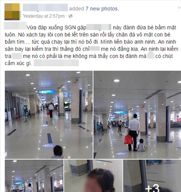 Có hay không việc mẹ đẻ dửng dưng nhìn con gái bị đánh đập, kéo lê tại sân bay Tân Sơn Nhất? - Ảnh 1.