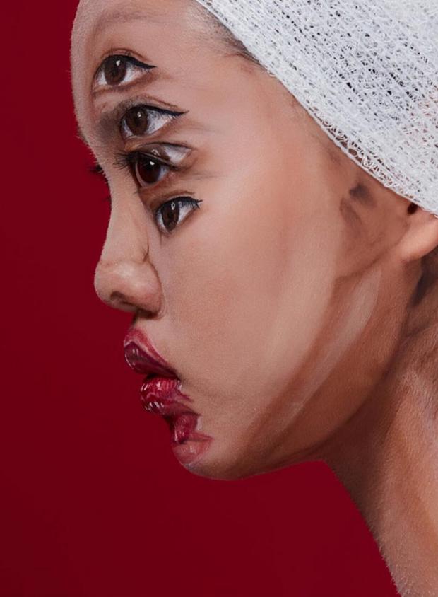 Màn make up ảo diệu của nghệ sĩ trang điểm Thái Lan khiến ai cũng hoa mày chóng mặt - Ảnh 5.