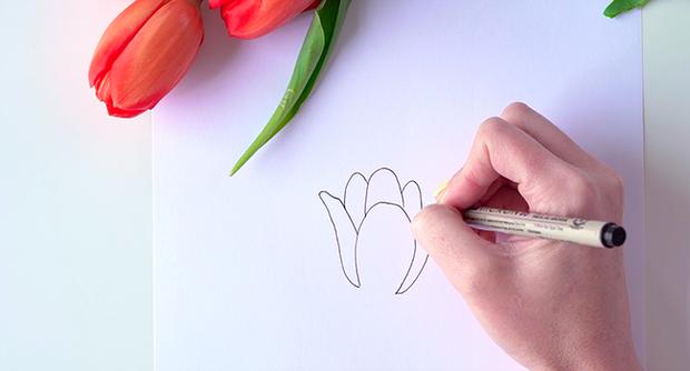 Học vẽ 3 kiểu hoa dễ như đùa mà vẫn đẹp - Ảnh 4.