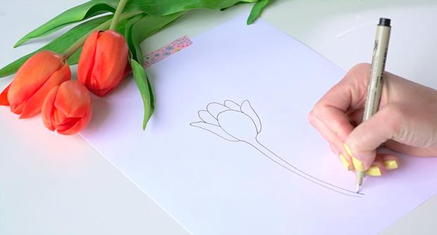 Học vẽ 3 kiểu hoa dễ như đùa mà vẫn đẹp - Ảnh 5.