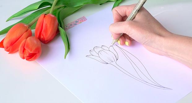 Học vẽ 3 kiểu hoa dễ như đùa mà vẫn đẹp - Ảnh 7.