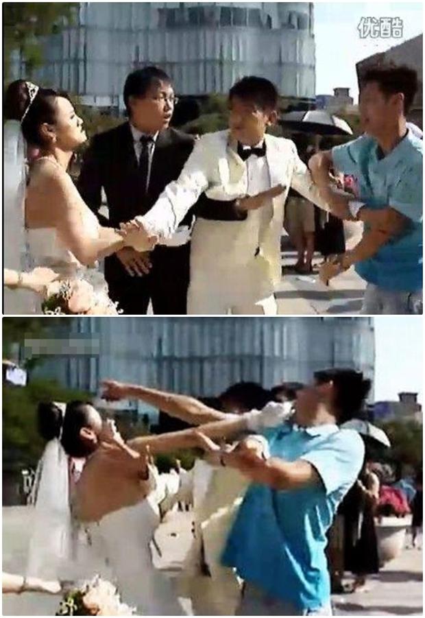 Video: Đang làm đám cưới, bạn trai cũ của chú rể bỗng xuất hiện cướp... chồng - Ảnh 3.