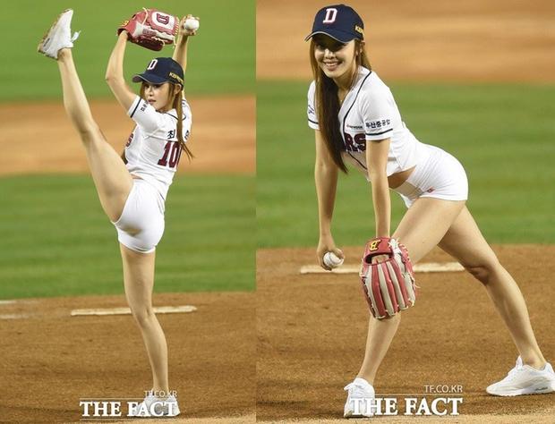 Hoa hậu cơ bắp Hàn Quốc gây sốt với màn ném bóng chày sexy - Ảnh 5.