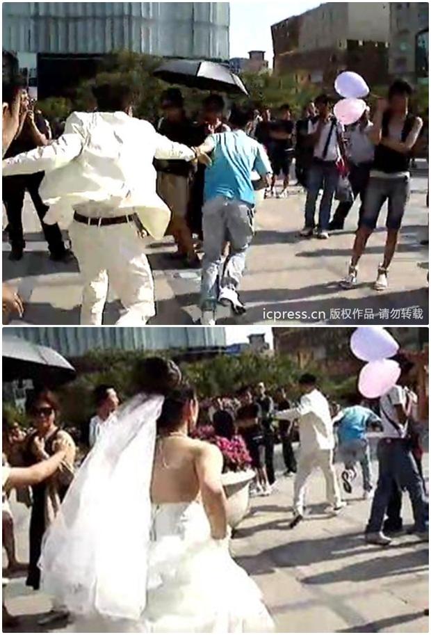 Video: Đang làm đám cưới, bạn trai cũ của chú rể bỗng xuất hiện cướp... chồng - Ảnh 4.