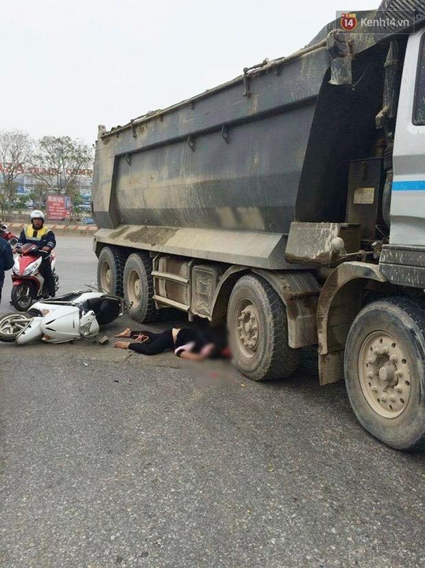 Hà Nội: Một phụ nữ bị cuốn vào gầm xe tải, tử vong tại chỗ - Ảnh 1.