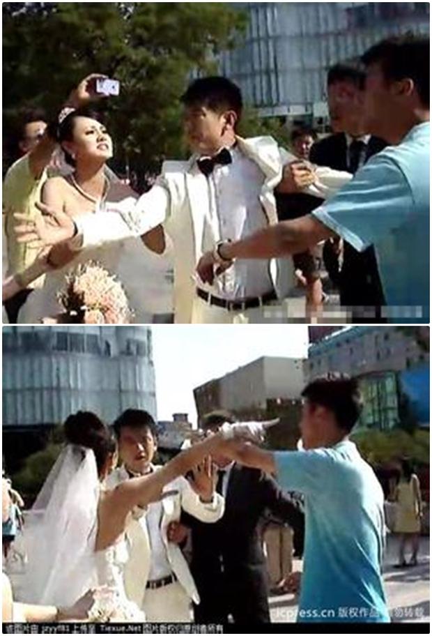 Video: Đang làm đám cưới, bạn trai cũ của chú rể bỗng xuất hiện cướp... chồng - Ảnh 2.