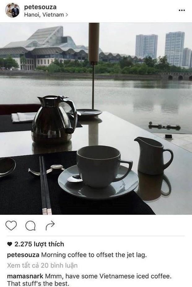 Nhiếp ảnh gia Nhà Trắng và phóng viên Washington Post khoe ảnh thưởng thức cafe Việt Nam trên Instagram - Ảnh 1.