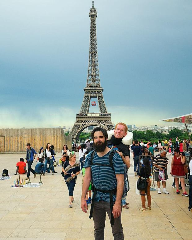 Được bạn cõng trên vai, chàng trai mắc bệnh hiểm nghèo thực hiện ước mơ đi khắp châu Âu - Ảnh 5.