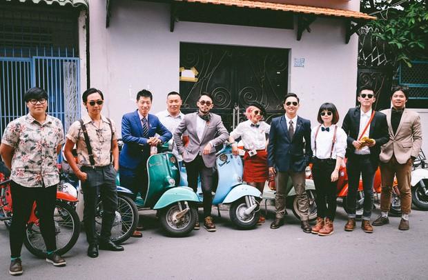 Nguyên dàn mặc chất, cưỡi vespa cổ trên phố Sài Gòn: Quá nhiều cái đẹp trong một tấm hình! - Ảnh 23.