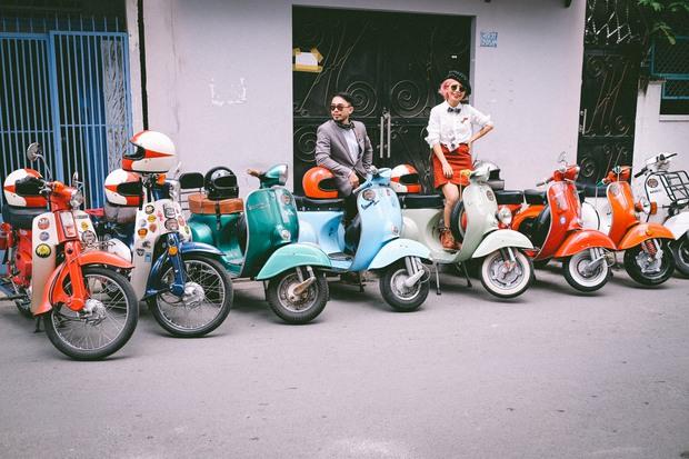 Nguyên dàn mặc chất, cưỡi vespa cổ trên phố Sài Gòn: Quá nhiều cái đẹp trong một tấm hình! - Ảnh 24.