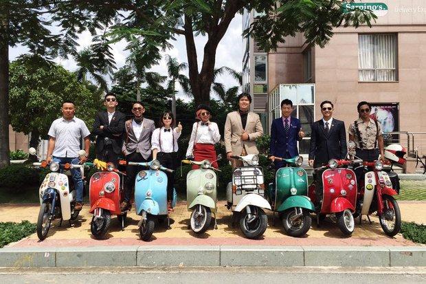 Nguyên dàn mặc chất, cưỡi vespa cổ trên phố Sài Gòn: Quá nhiều cái đẹp trong một tấm hình! - Ảnh 26.