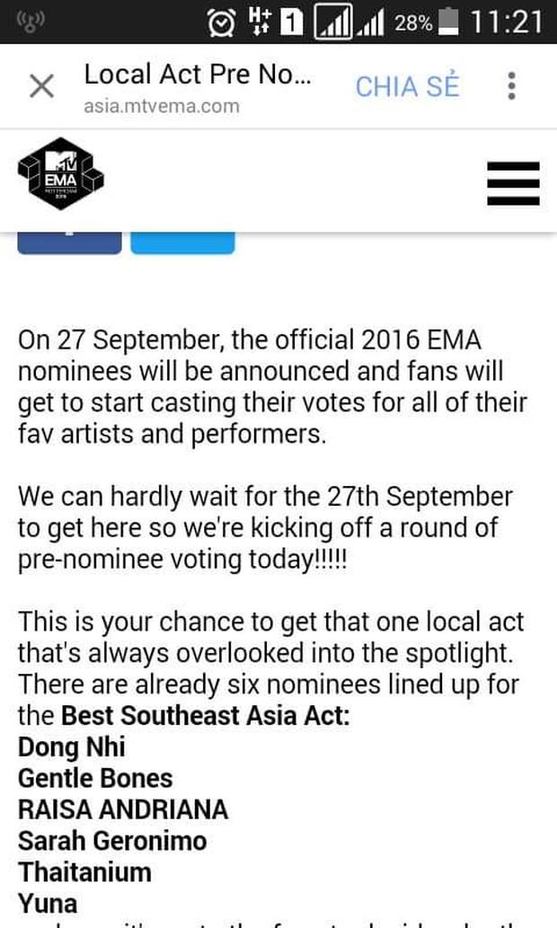 MTV Việt Nam giải thích về lùm xùm bình chọn EMA 2016 sau chiến thắng của Đông Nhi - Ảnh 3.