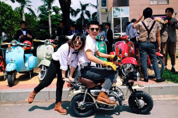 Nguyên dàn mặc chất, cưỡi vespa cổ trên phố Sài Gòn: Quá nhiều cái đẹp trong một tấm hình! - Ảnh 21.