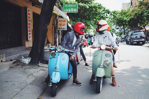 Nguyên dàn mặc chất, cưỡi vespa cổ trên phố Sài Gòn: Quá nhiều cái đẹp trong một tấm hình! - Ảnh 11.