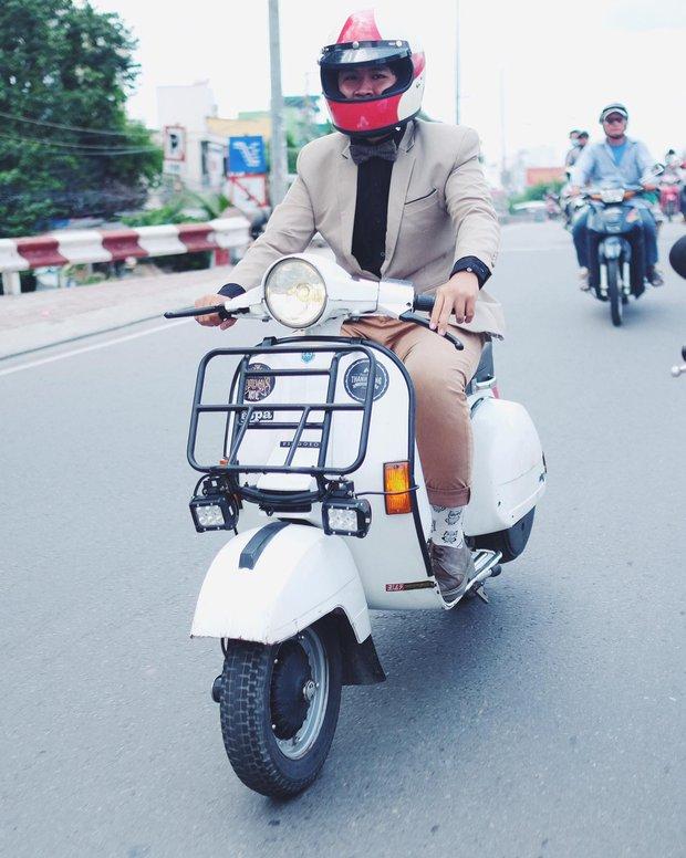 Nguyên dàn mặc chất, cưỡi vespa cổ trên phố Sài Gòn: Quá nhiều cái đẹp trong một tấm hình! - Ảnh 10.