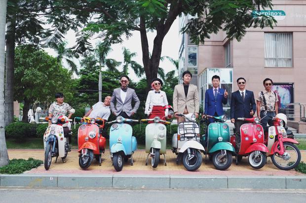 Nguyên dàn mặc chất, cưỡi vespa cổ trên phố Sài Gòn: Quá nhiều cái đẹp trong một tấm hình! - Ảnh 8.