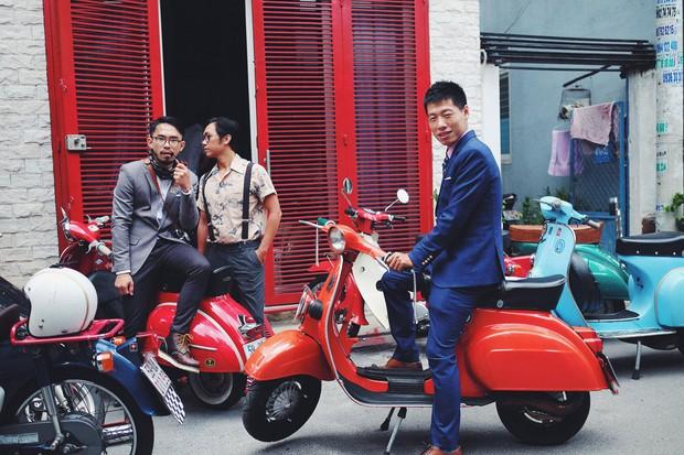 Nguyên dàn mặc chất, cưỡi vespa cổ trên phố Sài Gòn: Quá nhiều cái đẹp trong một tấm hình! - Ảnh 6.