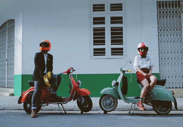 Nguyên dàn mặc chất, cưỡi vespa cổ trên phố Sài Gòn: Quá nhiều cái đẹp trong một tấm hình! - Ảnh 5.