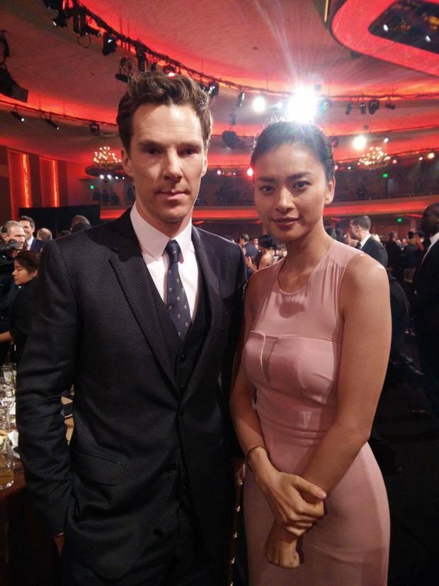 Ngô Thanh Vân khiến fan nở mũi, ghen tỵ khi chụp ảnh cùng diễn viên phim Doctor Strange - Ảnh 1.