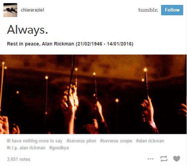 Fan Harry Potter đồng loạt giơ cao đũa phép tưởng niệm sự ra đi của Giáo sư Snape - Ảnh 4.