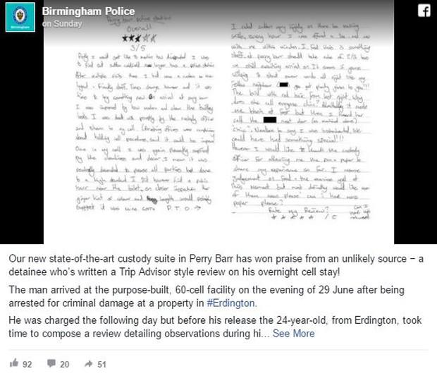 Viết đánh giá nhà tù theo phong cách TripAdvisor sau 16 tiếng bị giam giữ - Ảnh 4.