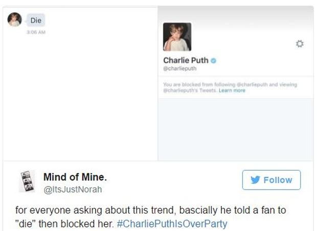 Charlie Puth bị dân mạng thế giới tẩy chay vì rủa fan chết và hủy theo dõi Selena - Ảnh 1.