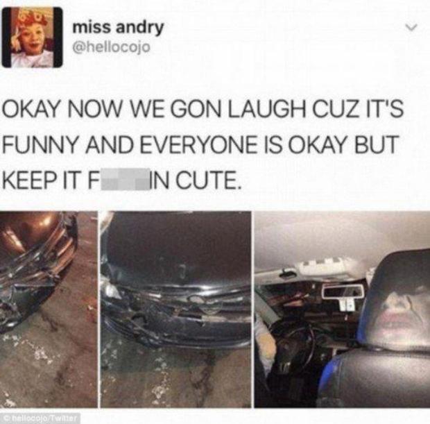 Không biết là nên khóc hay nên cười sau khi xem bức ảnh tai nạn ô tô này nữa - Ảnh 3.