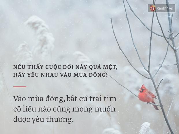 Nếu thấy cuộc đời này quá mệt, hãy yêu nhau vào mùa đông! - Ảnh 3.