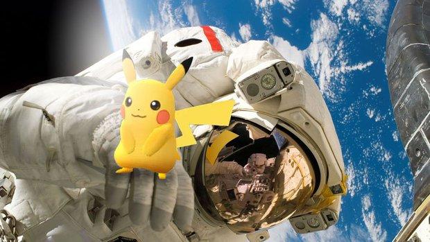 Phi hành gia ngoài vũ trụ có đi bắt Pokémon được không? - Ảnh 1.