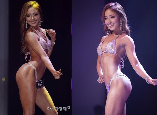 Hoa hậu cơ bắp Hàn Quốc gây sốt với màn ném bóng chày sexy - Ảnh 1.