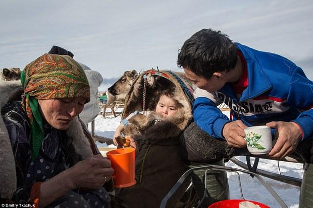 Chùm ảnh tuyệt đẹp về bộ tộc chuyên ăn thịt sống, uống máu tuần lộc - Ảnh 23.
