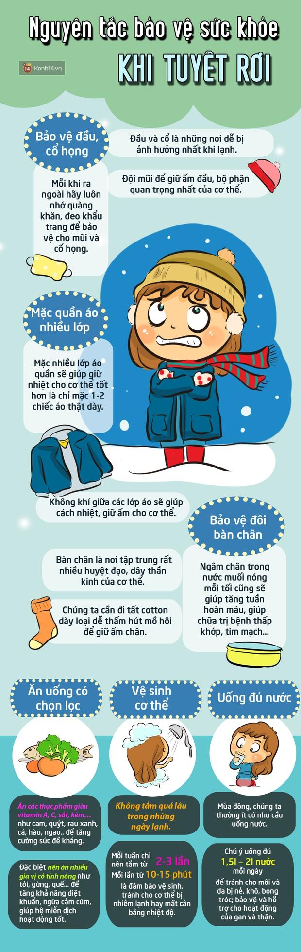 Làm gì để ấm áp và khỏe mạnh trong mùa tuyết rơi - Ảnh 1.