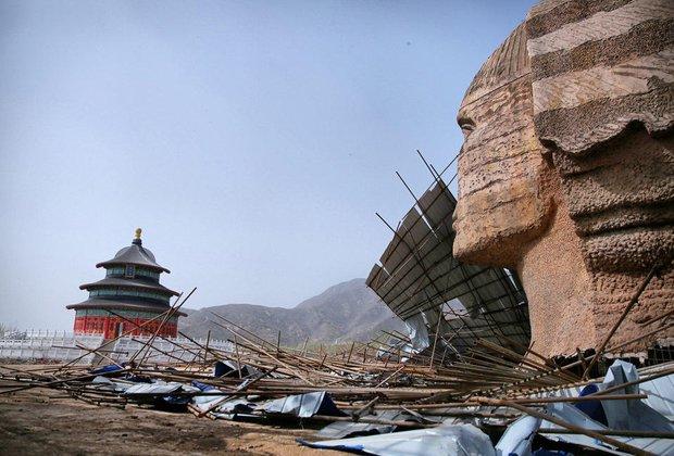Dưới sức ép của người Ai Cập, Trung Quốc bị buộc tháo dỡ tượng nhân sư nhái khổng lồ - Ảnh 5.