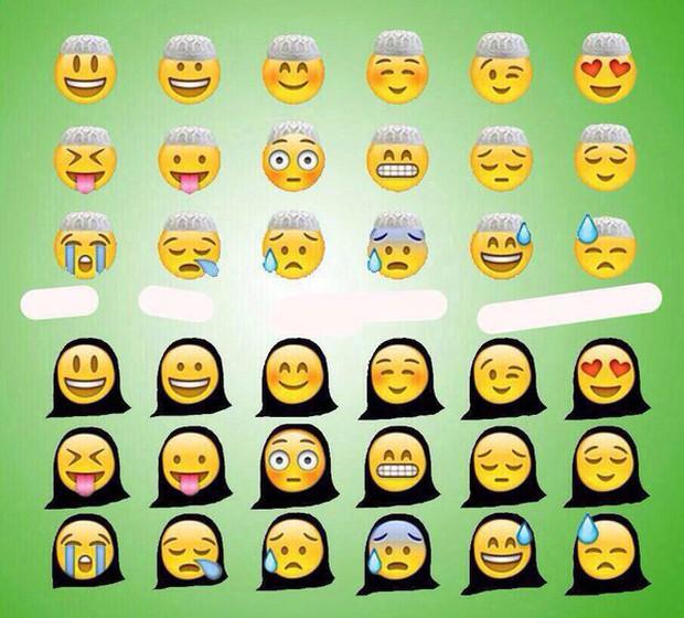 Ả Rập Saudi bắt cả Emoji cũng phải đeo mạng che mặt Hồi giáo, và đây là kết quả - Ảnh 6.