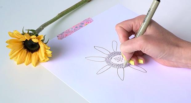 Học vẽ 3 kiểu hoa dễ như đùa mà vẫn đẹp - Ảnh 21.