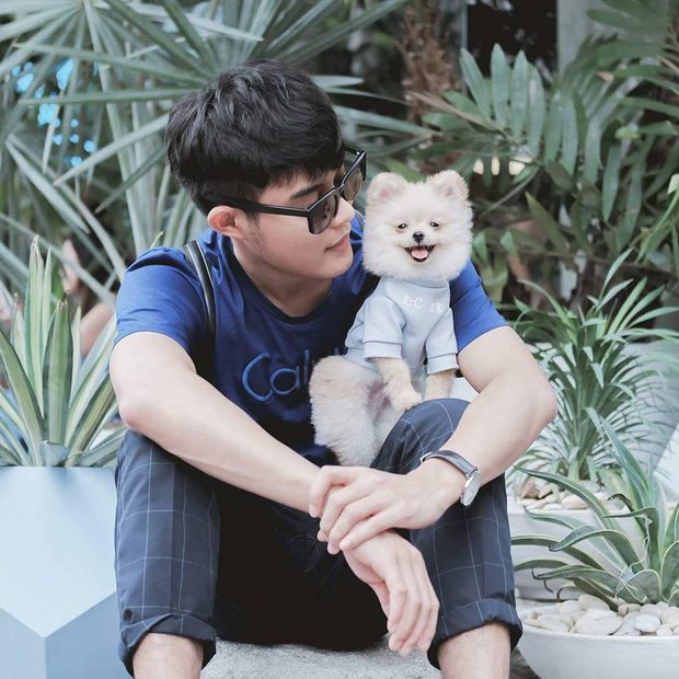 Gia đình nhỏ với trai đẹp, một em cún lúc nào cũng cười và hai chú thỏ lông xù siêu đáng yêu - Ảnh 6.