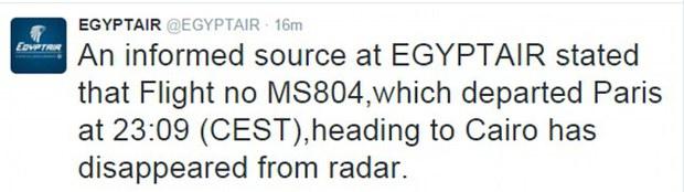 Máy bay chở khách Ai Cập có thể đã đâm xuống biển - Ảnh 3.