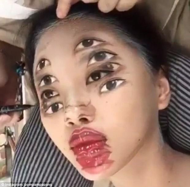 Màn make up ảo diệu của nghệ sĩ trang điểm Thái Lan khiến ai cũng hoa mày chóng mặt - Ảnh 4.