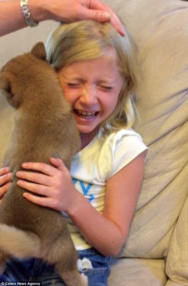 Video: Cô bé khóc nức nở khi nhận được một chú chó trong ngày sinh nhật - Ảnh 2.