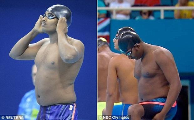 VĐV bơi lội mập ú khiến khán giả phì cười ở Olympic Rio 2016 - Ảnh 1.