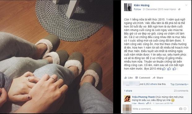 Cặp đôi Kiên Hoàng và Heo Mi Nhon vui mừng khoe lên chức bố mẹ - Ảnh 5.
